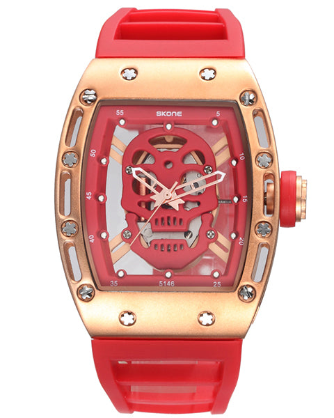 SKONE Kilmarnock Mens Red Watch - Silicone Strap