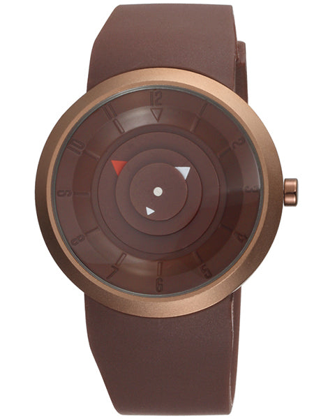 SKONE Dumbarton Mens Brown Watch - Brown Silicone Band