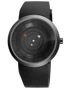 SKONE Dumbarton Mens Watch - Black Silicone Strap