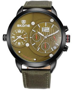 SKONE Broxburn Caramel Mens Watch - Canvas Strap
