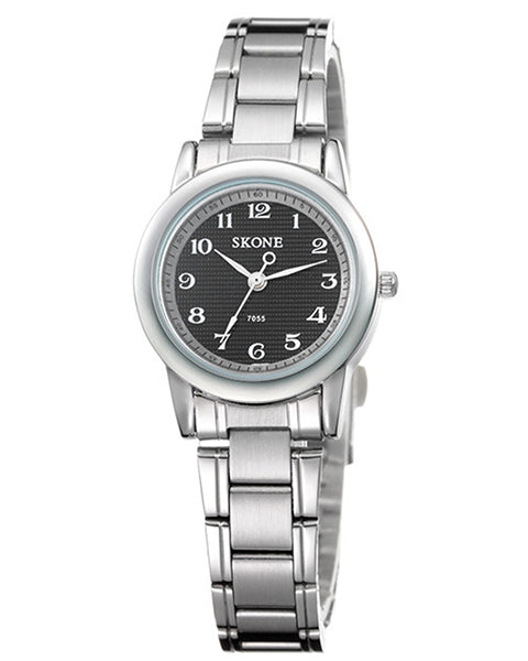 Skone Reading Ladies Watch Black - Stainless Steel Strap