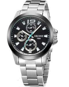 Skone Shefford Mens Watch Black - Stainless Steel Strap