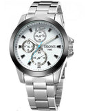 Skone Shefford Mens Watch White - Stainless Steel Strap