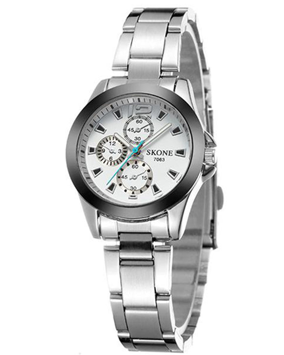 Skone Shefford Ladies Watch White - Stainless Steel Strap