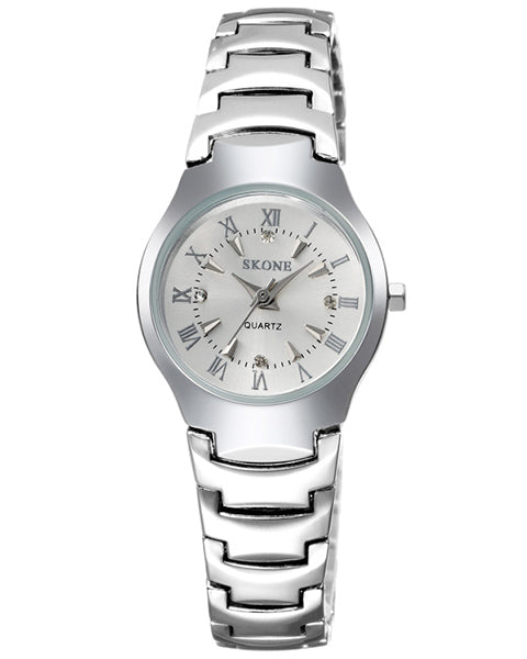 SKONE Newbury Ladies White & Silver Watch - Alloy Strap