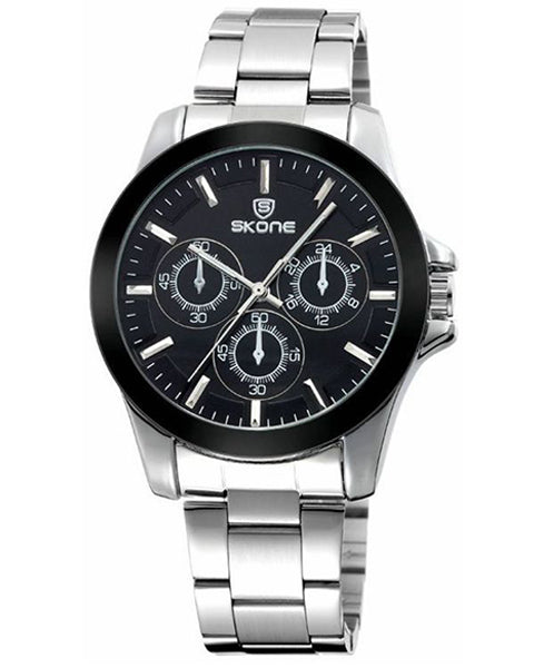 Skone Amersham Steel Mens Watch - Black