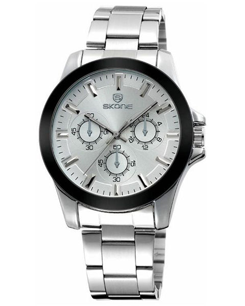 Skone Amersham Steel Mens Watch - White