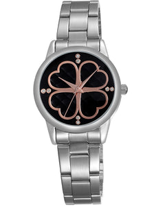 Skone York Steel Ladies Watch - Black
