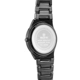 Skone Malmesbury Mens Watch White - Black Metal Strap