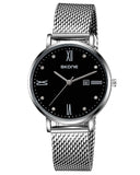 SKONE Fortrose Ladies Black Watch - Stainless Steel Mesh Strap