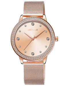 Skone Mattie Diamond Dial Ladies Watch - Rose Gold