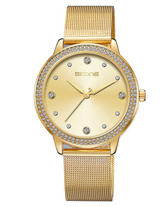 Skone Mattie Diamond Dial Ladies Watch - Gold
