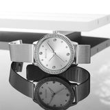 Skone Mattie Diamond Dial Ladies Watch - Silver