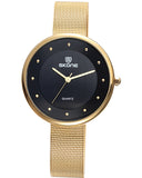 Skone Gloucester Ladies Watch - Black & Gold
