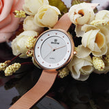 SKONE Gloucester Ladies Rose Gold Watch - Stainless Steel Mesh Strap