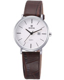 SKONE Perth Ladies Silver Watch - Brown Strap