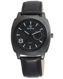 Skone Swansea Mens Watch Black - Black Strap