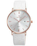 SKONE St Andrews Mens Pearl White Watch - Leather Strap