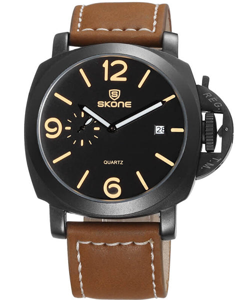 SKONE Kirkcaldy Mens Watch - Chestnut Brown Strap