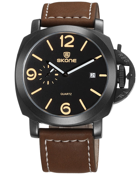 SKONE Kirkcaldy Mens Watch - Coffee Strap