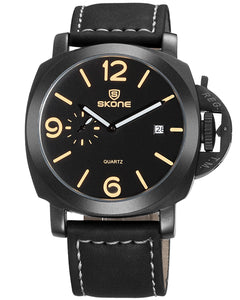 SKONE Kirkcaldy Mens Black Watch - Black Strap