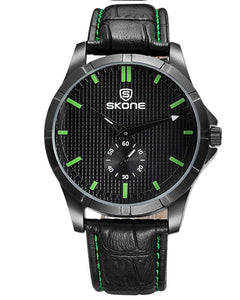Skone Oakham Green Mens Watch - Black Strap