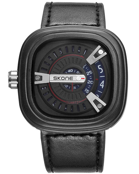 SKONE Wembley Mens Blue Watch - Leather Strap