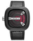 SKONE Wembley Mens Red Watch - Leather Strap