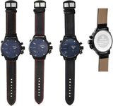 SKONE Falkirk Mens Red Watch - Leather Strap