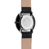 SKONE Kensington Mens Black & Orange Watch - Black Strap