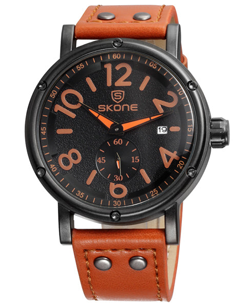SKONE Glasgow Mens Watch - Tan Strap