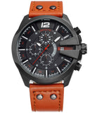 Skone Boston Chrono Mens Watch - Orange Strap