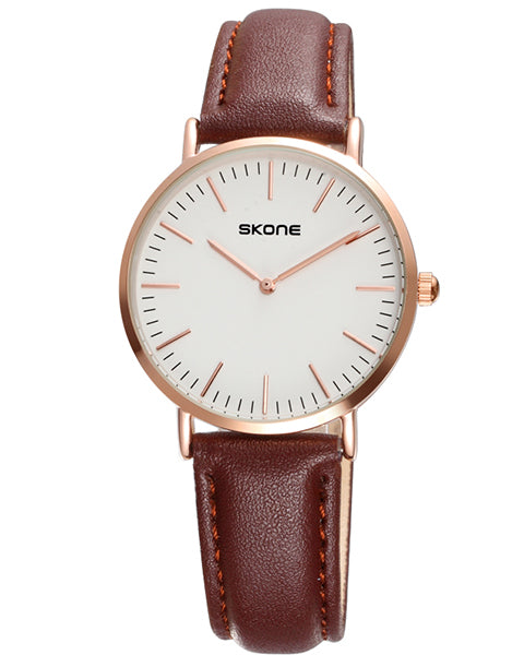 SKONE Westminster Ladies Watch - Brown Strap