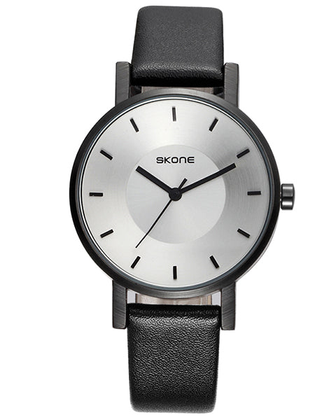 SKONE Lancaster Ladies White Watch - Black Strap