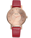 SKONE Lancaster Ladies Rose Gold Watch - Rosewood Strap