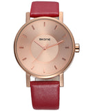 SKONE Lancaster Mens Rose Gold Watch - Rosewood Strap