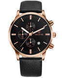 Skone Stamford Chrono Mens Watch Rose Gold & Black - Black Strap
