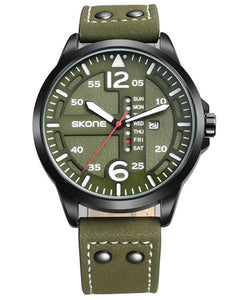 Skone Rochester Men's Watch - Olive Green