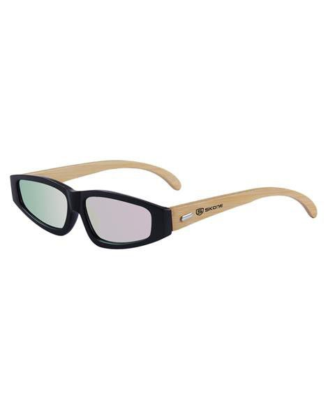 Skone Diani Black UV400 Bamboo Sunglasses