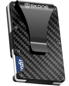 Minimalist Wallet - Card Holder & Money Clip-RFID Blocking-Carbon Fiber