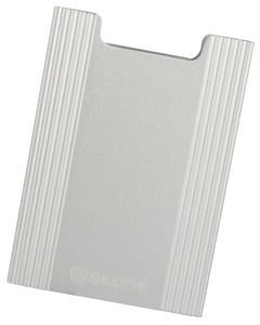 Minimalist Wallet - Slim Light Weight Card Holder RFID Blocking-Brushed Silver