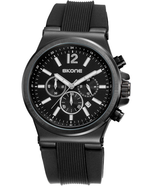 Skone Men's Bolton Chronograph Watch - Black