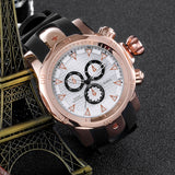 Skone Balfour Rose Gold Chronograph Mens Sports Watch - White Dial