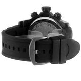 Skone Balfour Black Chronograph Mens Sports Watch - Black Silicone Band