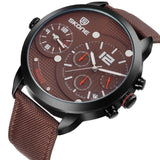 SKONE Broxburn Mens Brown Watch - Canvas Strap