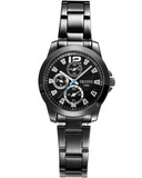 Skone Shefford Gunmetal Ladies Watch - Black
