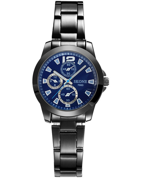 Skone Shefford Gunmetal Ladies Watch - Blue