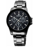 Skone Amersham Black Men's Watch - Black Link Strap