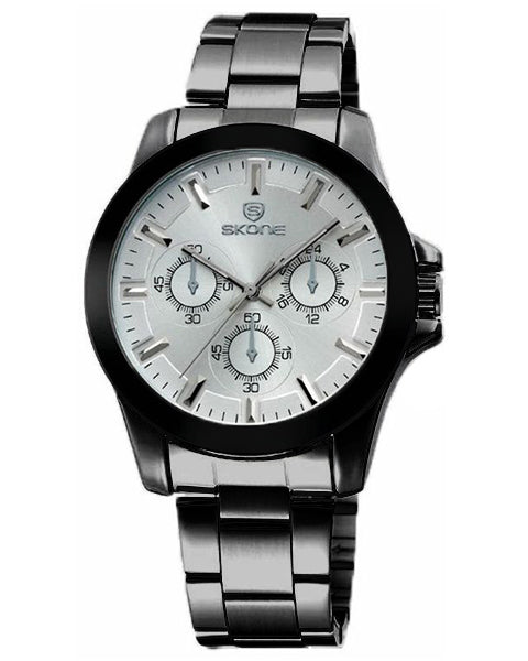 Skone Amersham White Men's Watch - BlackLink Strap