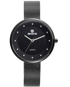 Skone Gloucester Black Ladies Watch - Black